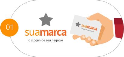 Ilustração de uma marca e um cartão de visita personalizado