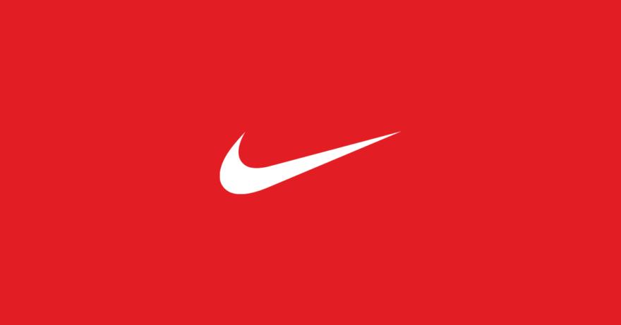 simbolo nike fundo vermelho