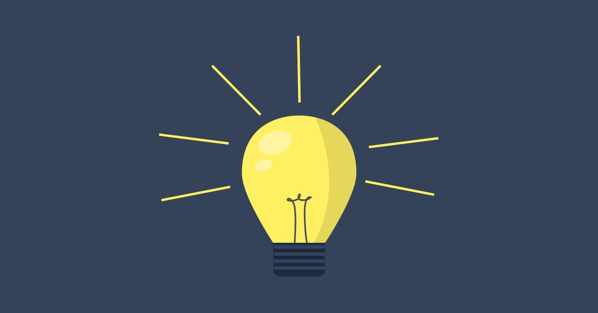 Ilustração lâmpada idéia descoberta