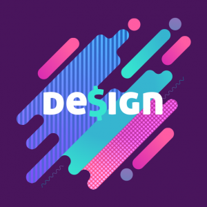 imagem colorida design cifrão